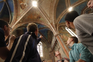 Benedictine College Preparatory boys on tour in Assisi!