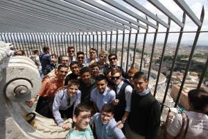 Benedictine College Prep Boys On Top of St. Peter's Basilica!